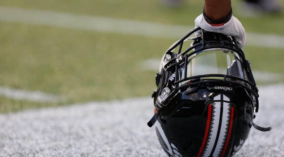 UC Football Helmet