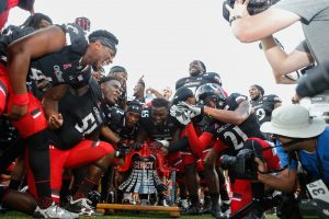 UC Players Ringing Victory Bell