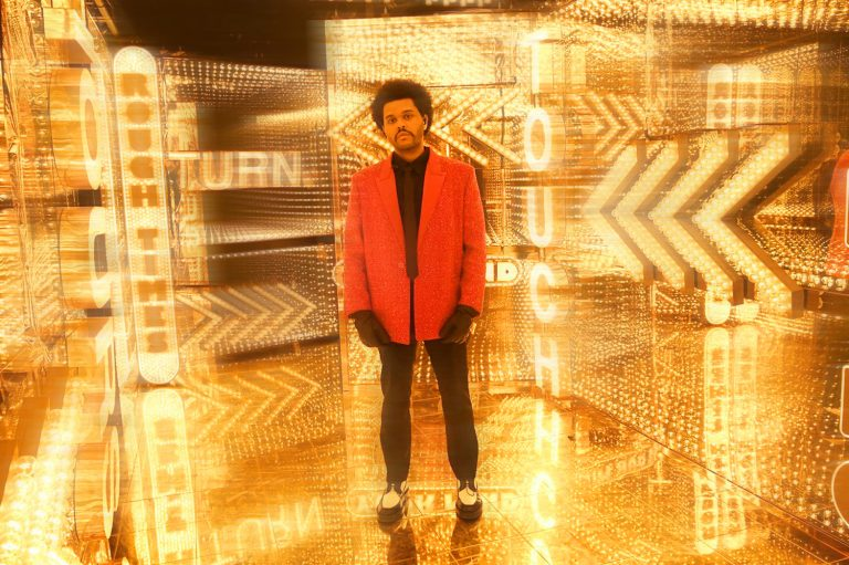 The Weeknd performs the Super Bowl Halftime Show